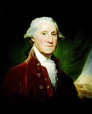 Politicians Royalty-Free and Rights-Managed Images - George Washington by Gilbert Stuart 1795-96 by MotionAge Designs