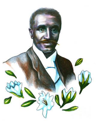 George Washington Carver Photograph - George Washington Carver by Gwen Shockey