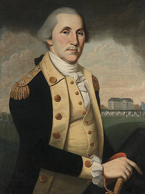 Soldier Painting - George Washington by Charles Peale Polk