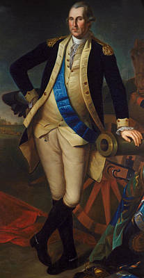 Military Uniform Painting - George Washington by Charles Wilson Peale