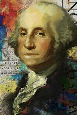 Politicians Paintings - George Washington by Corporate Art Task Force