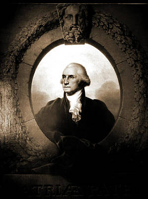 George Washington Drawing - George Washington, Head-and-shoulders Portrait, Peale by Litz Collection