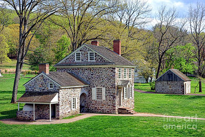 Pennsylvania Photograph - George Washington Headquarters At Valley Forge by Olivier Le Queinec