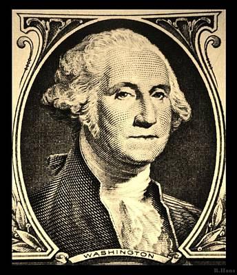 Potus Photograph - George Washington In Sepia by Rob Hans