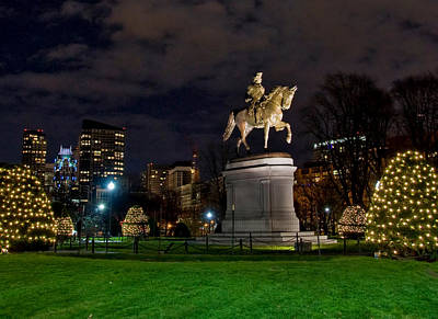 Politicians Royalty-Free and Rights-Managed Images - George Washington on the Common by Joann Vitali