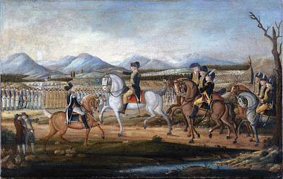Politicians Royalty-Free and Rights-Managed Images - George Washington reviews the troops by Celestial Images