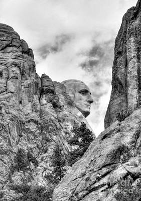 Photograph - George Washington Rocks Bw by Mel Steinhauer