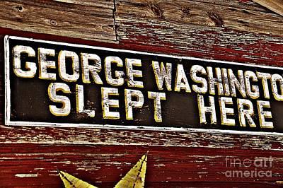 George Washington Slept Here Old Sign Art Print by JW Hanley