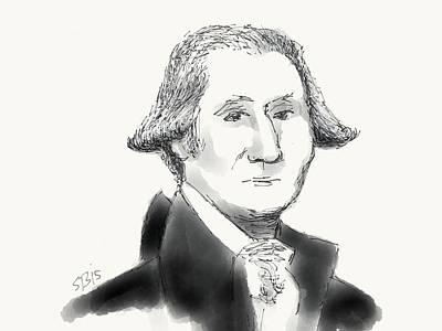 Digital Art - George Washington by Stacy C Bottoms