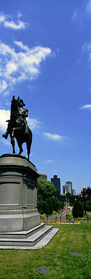 Boston Public Garden Photograph - George Washington Statue In Boston by Panoramic Images