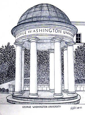 George Washington University Art Print