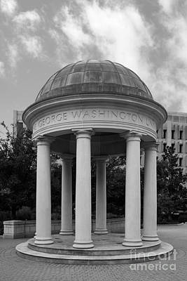 George Washington University Kogan Plaza Art Print by University Icons