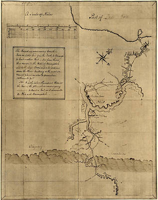 1750s Photograph - George Washingtons Map, Accompanying by Everett