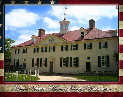 Photograph - George Washington's Mount Vernon by Anthony Jones