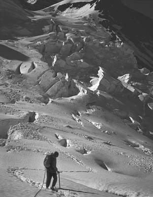 Photograph - George Whitmore On The Robson Glacier by Ed  Cooper Photography