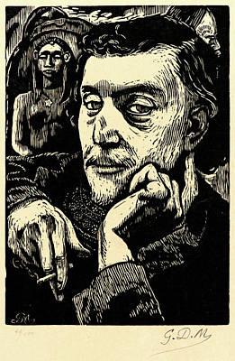 Self-portrait Drawing - Georges Daniel De Monfreid French by Litz Collection