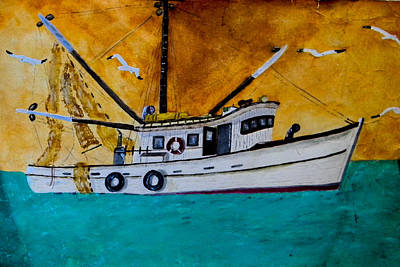 Painting - Georges Shrimp Boat by George Lockwood