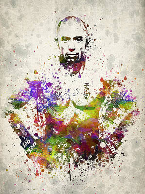 Thai Drawing - Georges St-pierre by Aged Pixel