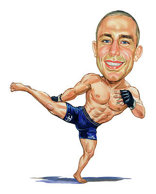 Laugh Painting - Georges St. Pierre by Art