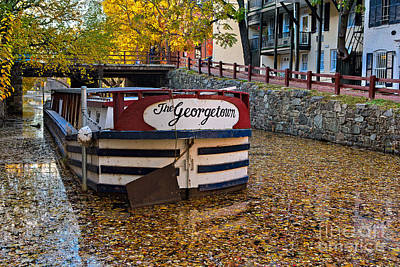 Georgetown Barge Art Print