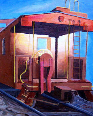 Painting - Georgetown Caboose by Ronald Lightcap