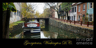 Historic House Photograph - Georgetown Canal Poster by Olivier Le Queinec