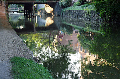 Photograph - Georgetown Canal Reflections by Cora Wandel