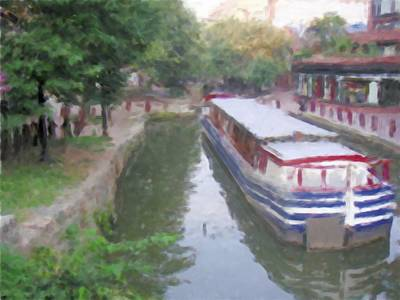 Narrow Boats Digital Art - Georgetown Canal Washington Dc by Bud Anderson