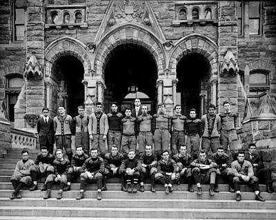 Football Royalty-Free and Rights-Managed Images - Georgetown Football 1910 by Benjamin Yeager