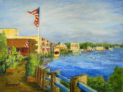 Georgetown Harbor Art Print by Cecelia Campbell