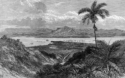 Georgetown Drawing - Georgetown, Penang, Near  Perak by  Illustrated London News Ltd/Mar
