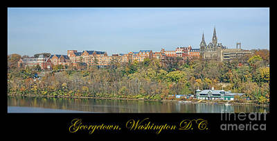 Boathouses Photograph - Georgetown Poster by Olivier Le Queinec