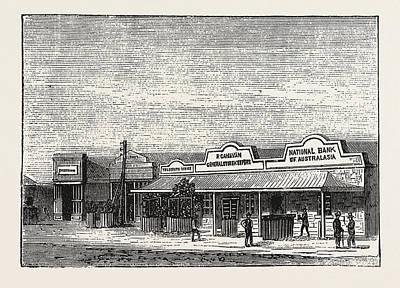 Georgetown Drawing - Georgetown, South Australia by Australian School