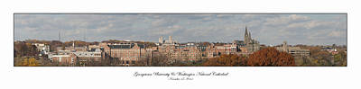 Photograph - Georgetown University Fall Panorama by Lauren Brice