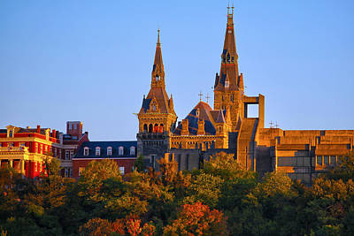 Georgetown Photograph - Georgetown University by Mitch Cat