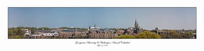 Photograph - Georgetown University Spring Panorama by Lauren Brice
