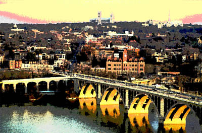 Georgetown Washington Dc Art Print by Charles Shoup