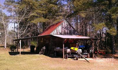 Photograph - Georgia Barn by Lew Davis