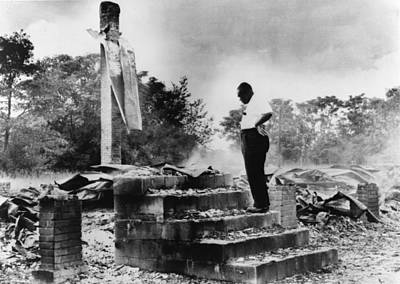 Photograph - Georgia Burned Church by Granger