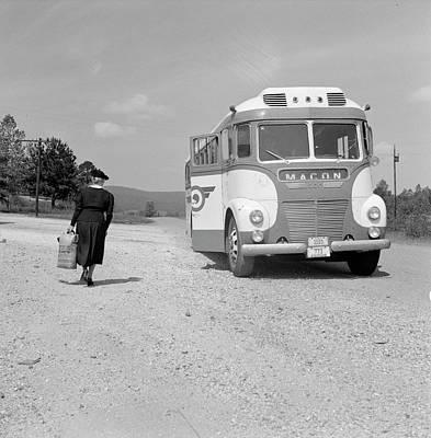 Greyhound Photograph - Georgia Bus Travel, 1943 by Granger