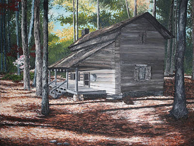 callaway gardens cabins. Callaway Gardens Painting - Georgia Cabin In The Woods By Beth Parrish Cabins