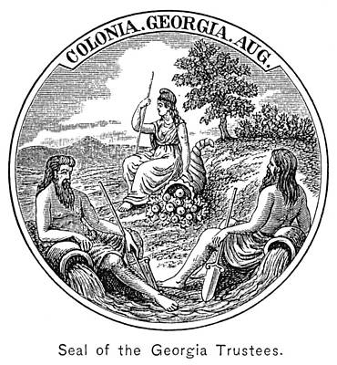 Cornucopia Painting - Georgia Colonial Seal by Granger