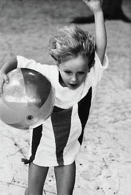 Photograph - Georgia De La Salle Playing With A Ball by Henry Clarke