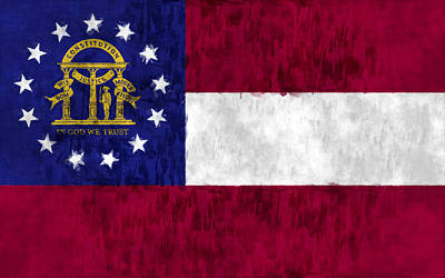 Georgia Flag Art Print by World Art Prints And Designs