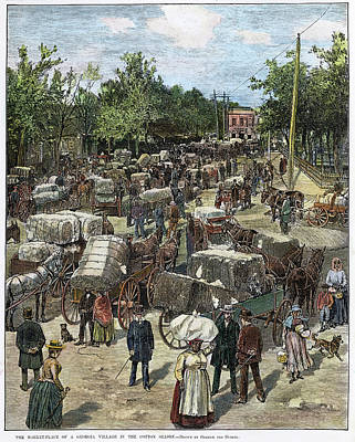 Bales Painting - Georgia Market-place by Granger