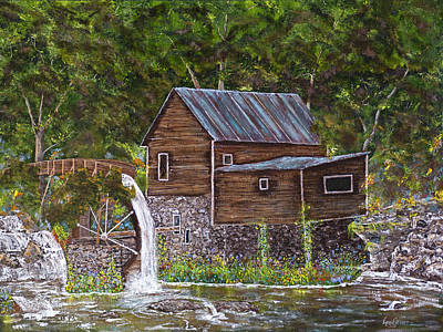 Painting - Georgia Mill by Leo Gehrtz