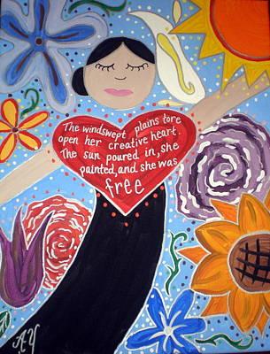 Painting - Georgia O'keeffe by Angela Yarber