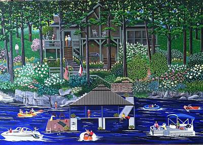 Painting - Georgia Summer Home by Jennifer Lake