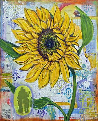 Georgia Sunflower Art Print by Random Act aka Andrea LaHue