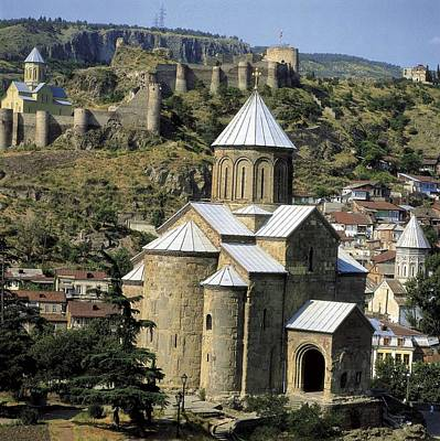 Tbilisi Photograph - Georgia. Tbilisi. Meteki Church by Everett